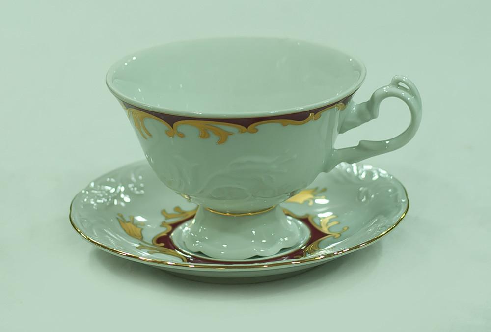 Набор чайных пар 6 персон 12 предметов 26578 Tulip