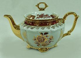 Чайник заварочный красная роза красный