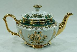 Чайник заварочный зеленая роза зеленый