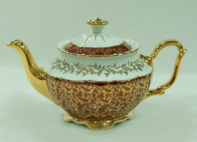 Чайник заварочный Лист бордовый