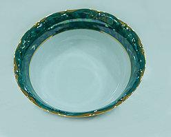 Салатник 23см золотая отводка зеленый
