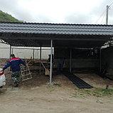 Навес из южнокорейской металлочерепицы, фото 3