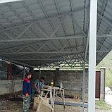 Навес из южнокорейской металлочерепицы, фото 2