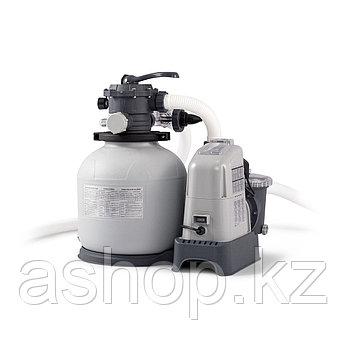Насос-хлорогенератор песочный фильтрующий Intex 28676,  66057 л/ч, Цвет: Серый