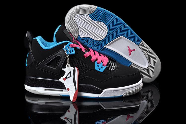 Кроссовки Air Jordan 4(IV) Retro Black Blue Pink (36-46)