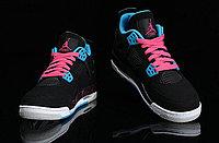 Кроссовки Air Jordan 4(IV) Retro Black Blue Pink (36-46), фото 4