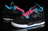 Кроссовки Air Jordan 4(IV) Retro Black Blue Pink (36-46), фото 3