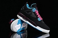 Кроссовки Air Jordan 4(IV) Retro Black Blue Pink (36-46), фото 5