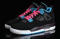 Кроссовки Air Jordan 4(IV) Retro Black Blue Pink (36-46), фото 2