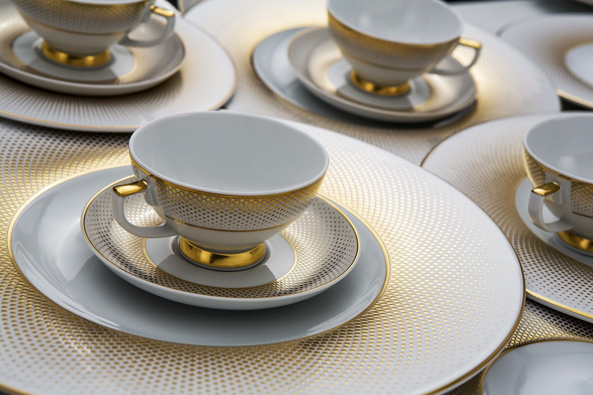 Кофейный+столовый сервиз на 6 персон RIO WHITE (белый)