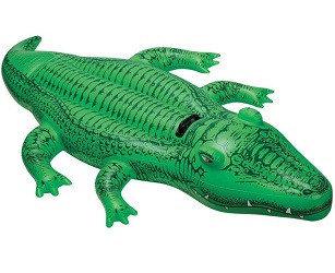 Надувная игрушка Intex Крокодил, 1 место Возрост: 3+, Нагрузка: 55кг, Винил, Цвет: Зелёный