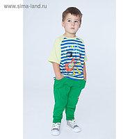 Футболка для мальчика, рост 104 см, цвет салатовый
