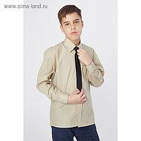 Сорочка для мальчика, нарядная с галстуком, рост 110-116 см (29), цвет оливковый 1181
