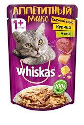 """Whiskas """"Аппетитный микс"""" курица и утка с сырным соусом для кошек"""