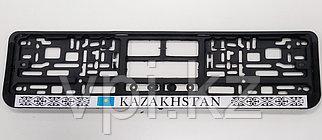 """Рамка под номер """"Казахстан"""", прямоугольная, черная"""