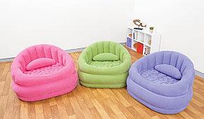 Надувное кресло Сиреневое с подушкой Intex 68563, фото 2