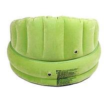 Надувное кресло Зеленое с подушкой Intex 68563, фото 3
