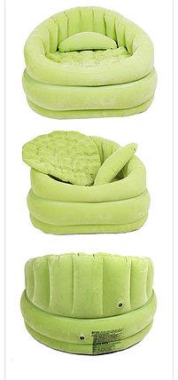 Надувное кресло Зеленое с подушкой Intex 68563, фото 2