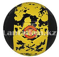 Футбольный мяч  Manchester United, желто-черный, фото 1