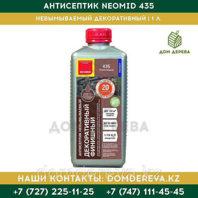 Антисептик невымываемый декоративный Neomid 435 Eco | 1 л.