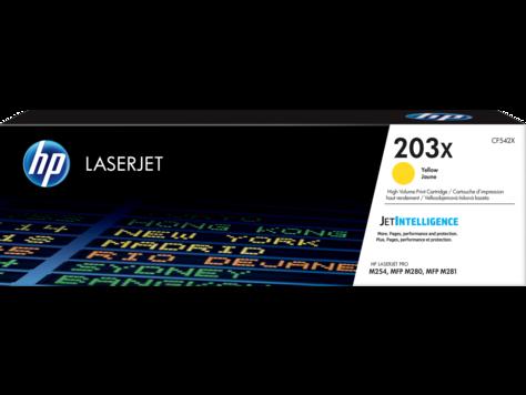 HP CF542X Картридж лазерный HP 203X желтый, ресурс 2500 стр