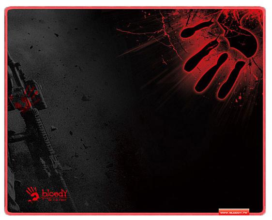 Коврик игровой Bloody B-080S Размер:430 X 350 X 2 mm BLACK-RED