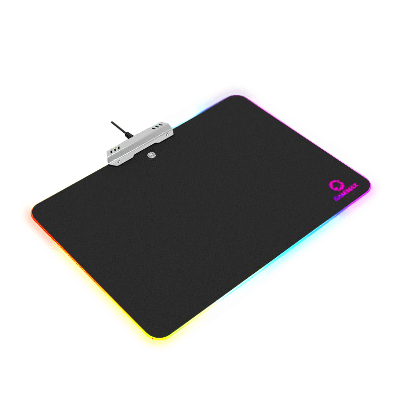Коврик для мыши GameMax GMP-02 <350x264x11.53mm,cable 1800mm, Material: Resin+Metal+Acrylic, 10 RGB colors>