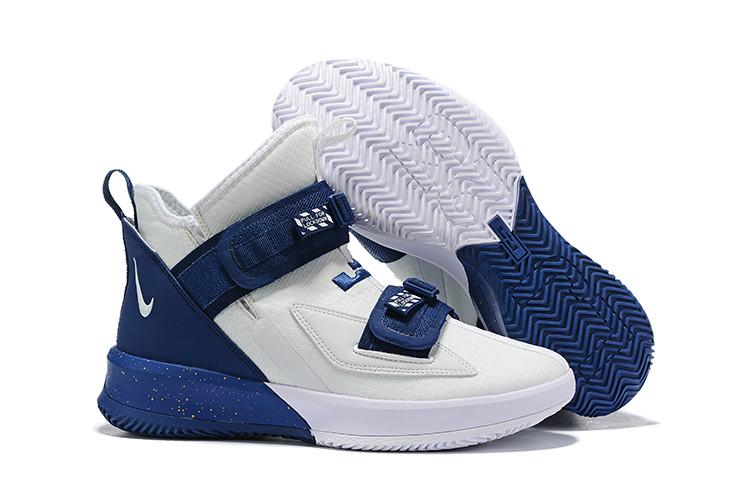 "Баскетбольные кроссовки Nike LeBron Soldier 13 ( XIII ) ""White-Blue"" From Lebron James"