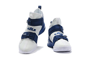 "Баскетбольные кроссовки Nike LeBron Soldier 13 ( XIII ) ""White-Blue"" From Lebron James , фото 2"