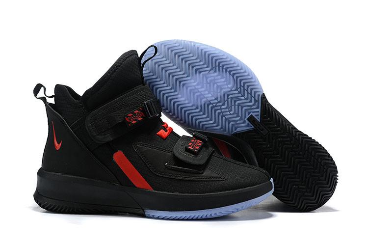 "Баскетбольные кроссовки Nike LeBron Soldier 13 ( XIII ) ""Black\Red"" From Lebron James"