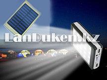 Портативное зарядное устройство Smart Power Bank 30000 mAh на солнечных батареях с светодиодным фонариком