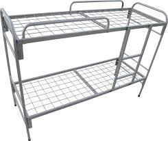 Металлическая кровать двухъярусная для воинской части