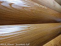 Металлосайдинг бревно Block House Блок хаус золотой дуб, фото 1