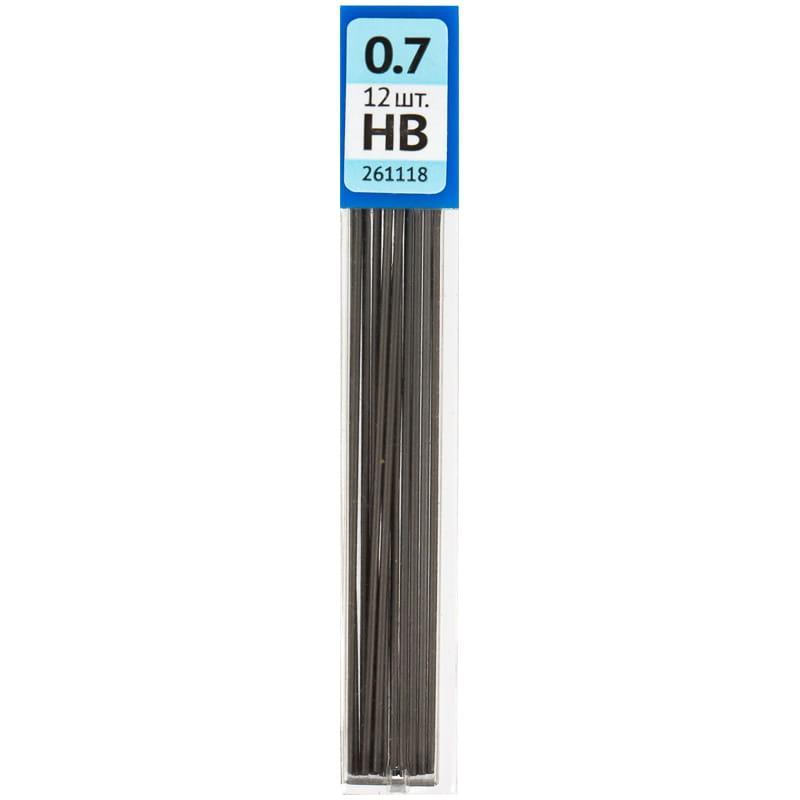 Грифели OfficeSpace для механических карандашей, 0,7 мм, НВ