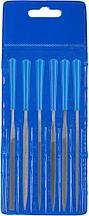 """Набор ЗУБР """"ЭКСПЕРТ"""": Надфили, пластмассовая ручка, насечка 2 = Бархатная, с чехлом, 100мм, 6шт"""