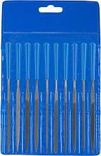 """Набор ЗУБР """"ЭКСПЕРТ"""": Надфили, пластмассовая ручка, насечка 2 = Бархатная, с чехлом, 100мм, 10шт"""