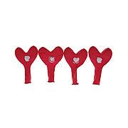 Воздушные шарики в форме сердца 1111-0362 (4 шт. в пакете)
