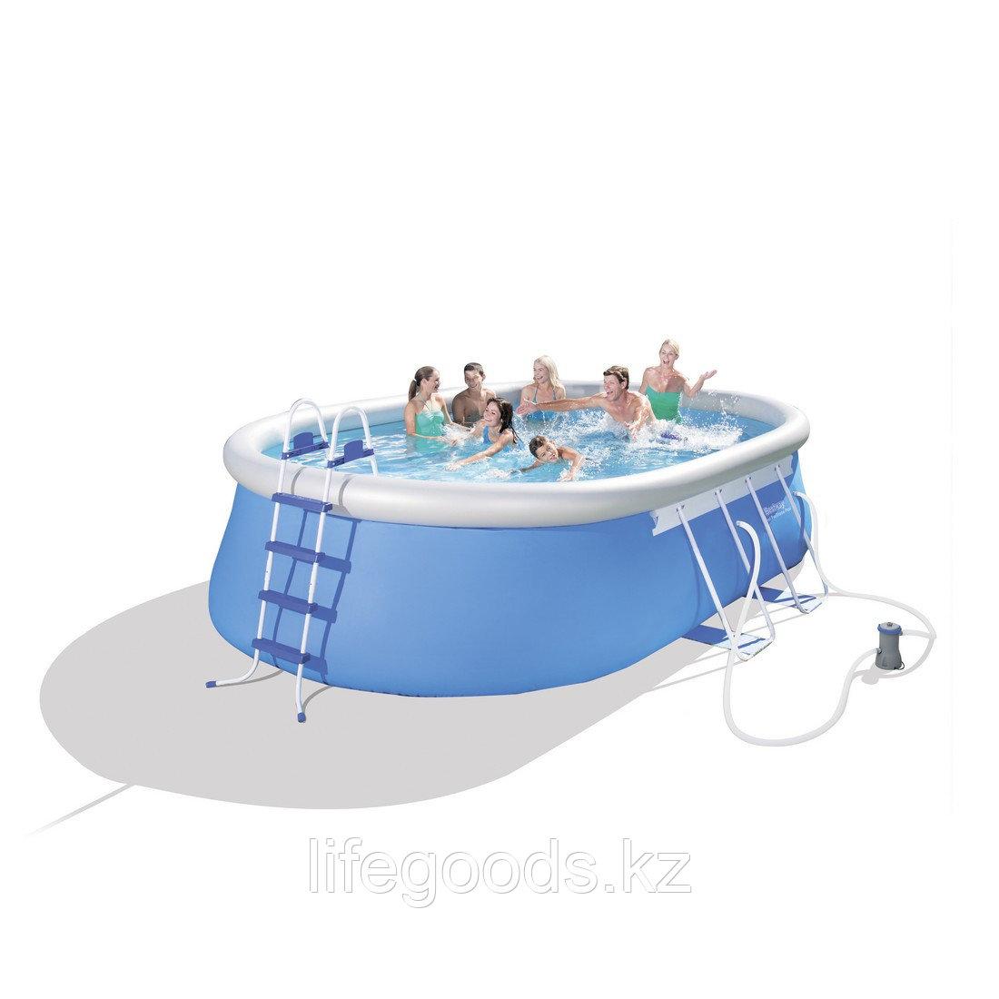 Надувной бассейн Fast Set 549х366х122 см Bestway 56461 (56153)