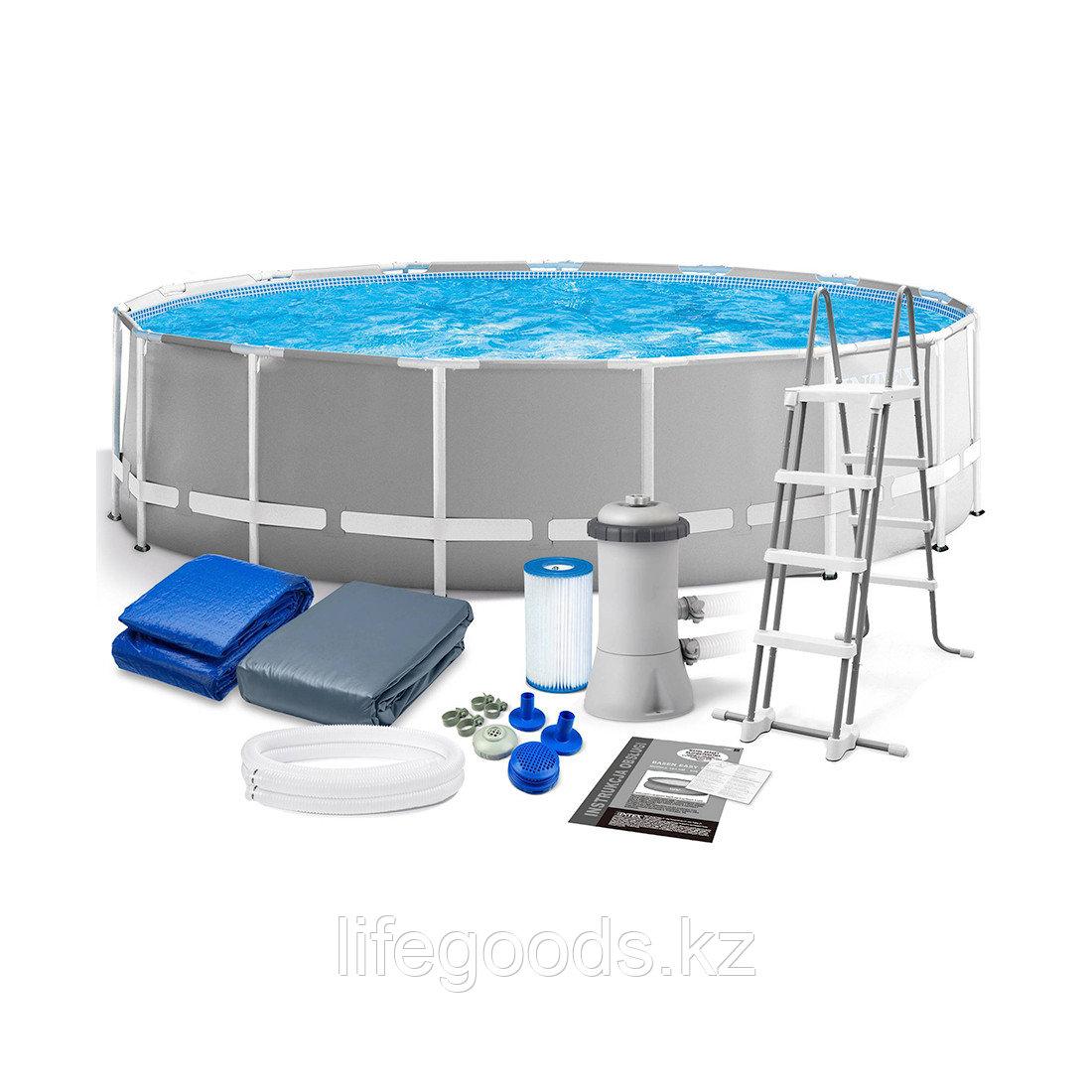 Каркасный бассейн Prism Frame 457х122 см, полный комплект, Intex 26726NP