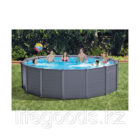 Каркасный бассейн Graphite Gray Panel 478х124 см Intex 26384NP, фото 2