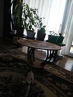 Журнальный столик с казахским орнаментом
