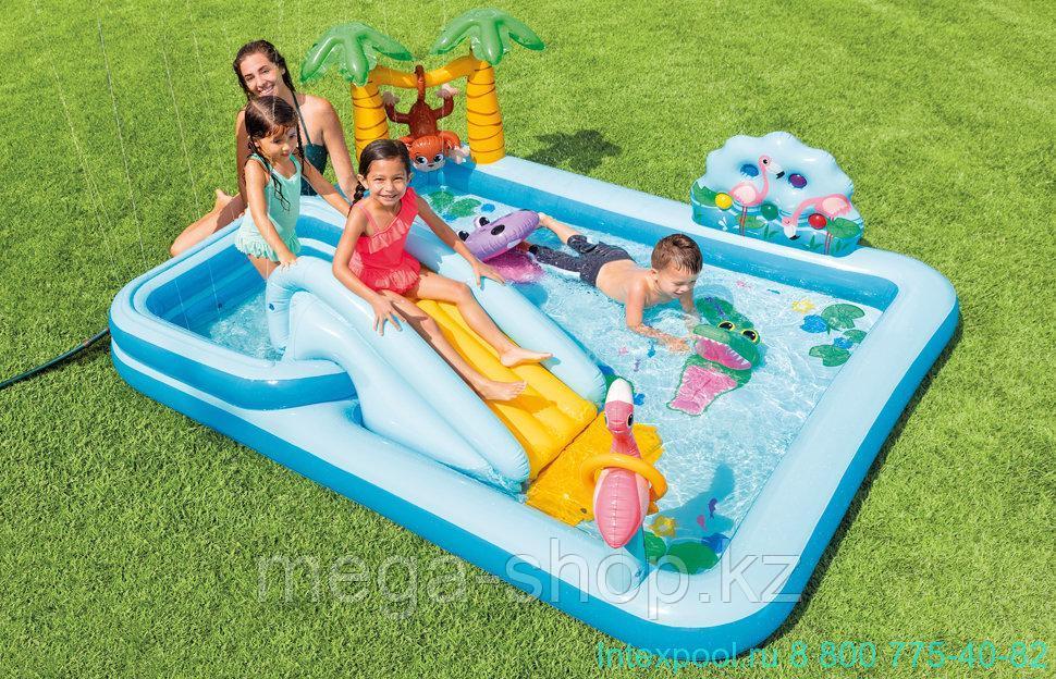 Игровой центр-бассейн приключения в джунглях intex 57161
