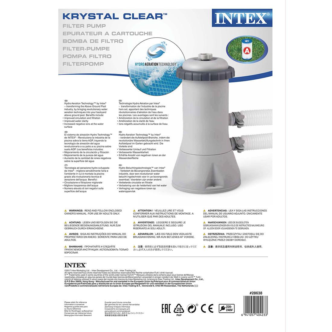 Насос фильтрующий Intex 28638, 3785 л/ч, Цвет: Серый