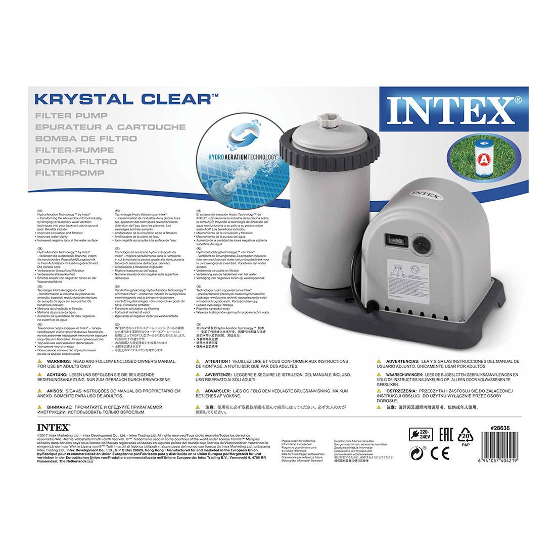 Насос фильтрующий Intex 28636, 5678 л/ч, Цвет: Серый