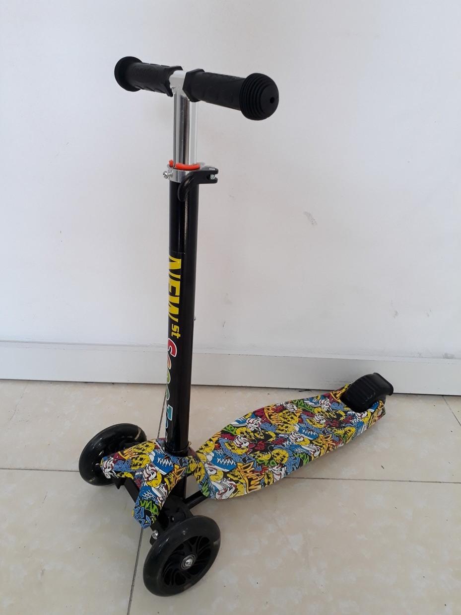 Самокат детский Scooter с аэрографией