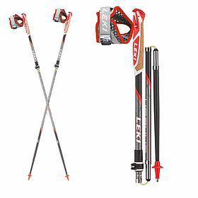 Kарбоновые палки для  скандинавской ходьбы и скайранинга LEKI Micro Trail Vario 100-120  (Германия)