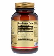 Solgar, Натуральный витамин D3, 10 000 МЕ, 120 гелевых капсул, фото 2