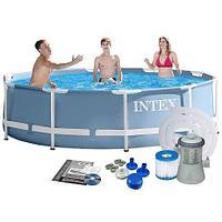 Каркасный бассейн 305*76cм  intex 28702 c фильтрующим насосом, фото 1