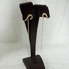 Золотые серьги - протяжки
