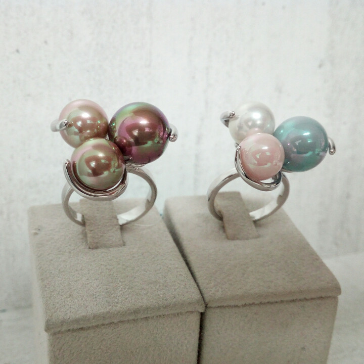 Кольцо с жемчугом Майорка - 18,5 размер